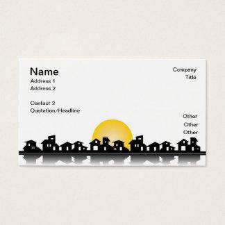 Visitenkarte mit Häusern