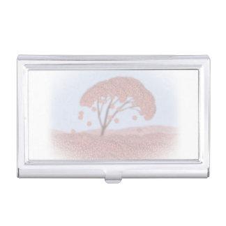 Visitenkartehalter-Kirschblüte-Baum Visitenkarten-Schatulle