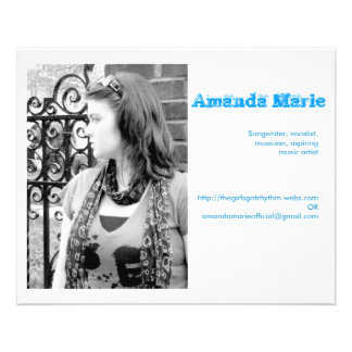 Visitenkarten Amanda Marie 11,4 X 14,2 Cm Flyer