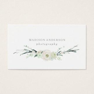 Visitenkarten des Aquarell-Blumenstrauß- 