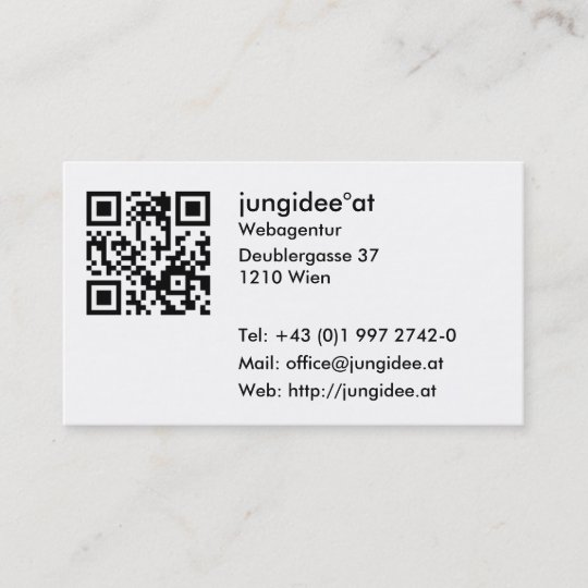 Visitenkarten Mit Qr Code Visitenkarte Zazzle At