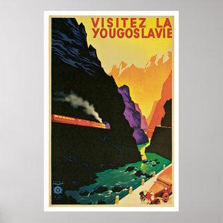 """""""Visitez La Yougoslavie"""" Vintages Reise-Plakat Poster"""