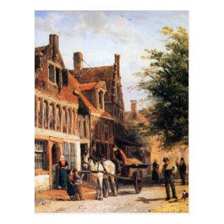 Vissersdijk in Enkhuizen durch Cornelis-Springer Postkarte