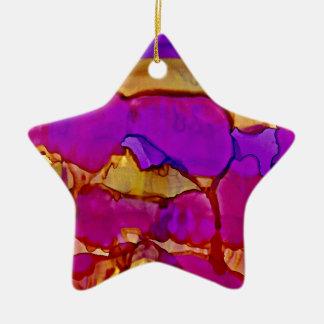 Vistas im Veilchen und im Gold Keramik Ornament