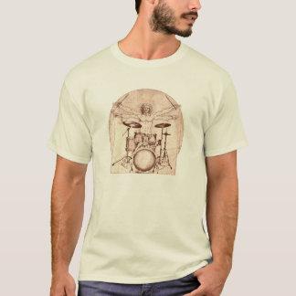 Vitruvian Schlagzeuger T-Shirt