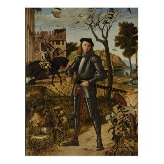 Vittore Carpaccio - junger Ritter in einer Postkarten