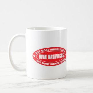 VIVA! NASHVEGAS essen mehr Rhinestones TM-Oval Tasse