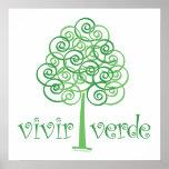 Vivir Verde Plakatdruck