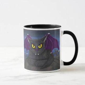 Vlad Vampire-Katzen-gotische Fantasie-Kunst-Tasse Tasse
