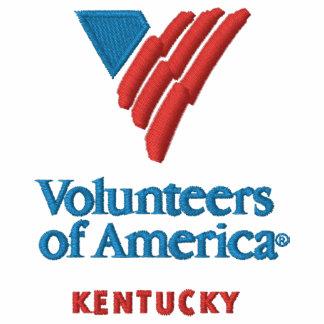 VOA Kentucky das gestickte ergatterte Shirt Männer Besticktes Poloshirt