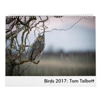 Vögel 2017: Tom Talbott Abreißkalender