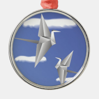 Vögel 78Paper _rasterized Silbernes Ornament