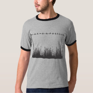 Vögel auf einem Draht T-Shirt