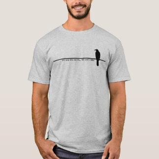 Vogel auf einer Linie T-Shirt