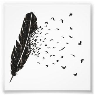 Vogel-Ausbrechen einer Feder Kunstphoto