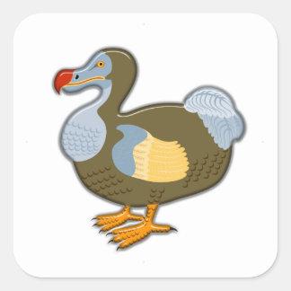 Vogel des Dodo-3D Quadratischer Aufkleber