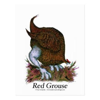Vogel des roten Waldhuhns, tony fernandes Postkarte