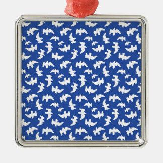 Vögel, die Muster-Entwurf zeichnen Silbernes Ornament