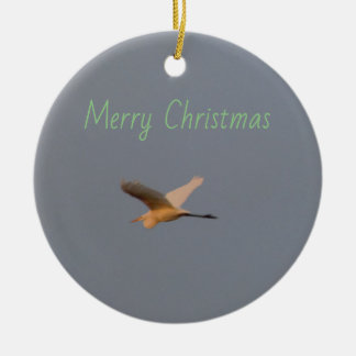 Vogel-Foto Keramik Ornament