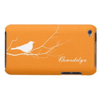 Vogel gehockt auf weißem orange Chic des Baumasts Case-Mate iPod Touch Hülle