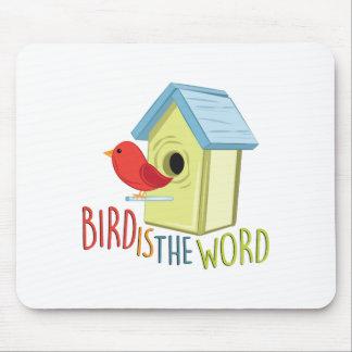 Vogel ist Wort Mauspads