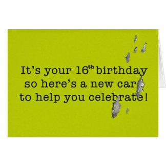 Vogel kacken lustigen Geburtstag für den 16 Karte