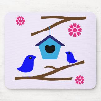 Vogel-Liebe-Nest Mousepads