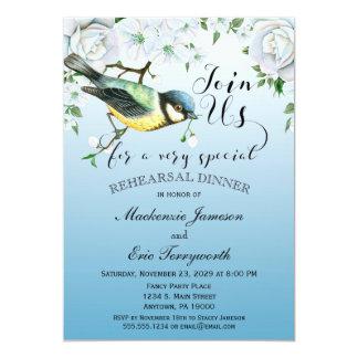 Vogel-Natur-Proben-Abendessen-Einladungs-Blau 12,7 X 17,8 Cm Einladungskarte