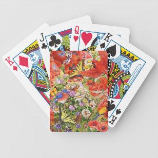 Vogel-, Schmetterlings-und Bienen-Spielkarten Bicycle Spielkarten