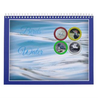 Vögel und Wasser-(mittelgroßer) Kalender