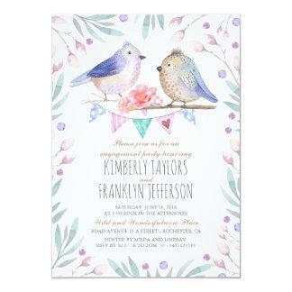 Vögel verbinden niedliches Verlobungs-Party 12,7 X 17,8 Cm Einladungskarte
