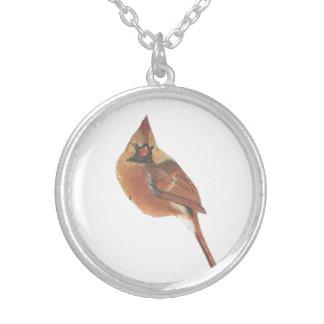 Vogel-Vogelschmuck des Kardinals reizender Versilberte Kette