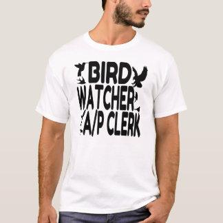Vogelbeobachter-Rechnungs-Sekretär T-Shirt