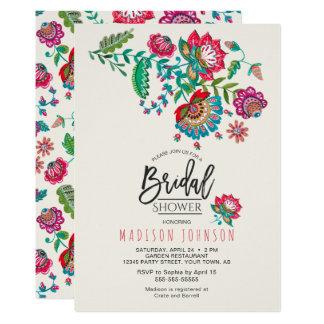 Volkseinladung der Blumen-  des Brautparty-  Karte