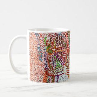 Voll von den Farben Kaffeetasse