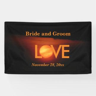 Volle Ernte-Mond-Hochzeit Banner