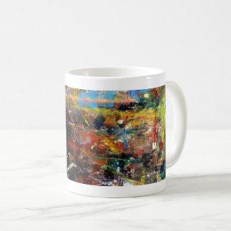 Volle Farbabstrakter Ausdruckkaffee-Tassenentwurf Kaffeetasse