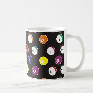 volles Musterbillardthema Kaffeetasse
