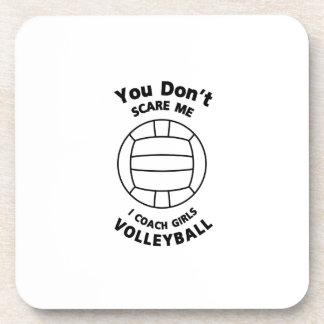 Volleyball-Trainer-lustiges Geschenk erschrecken Untersetzer