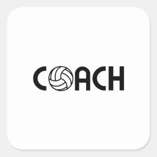 Volleyball-Trainer Quadratischer Aufkleber