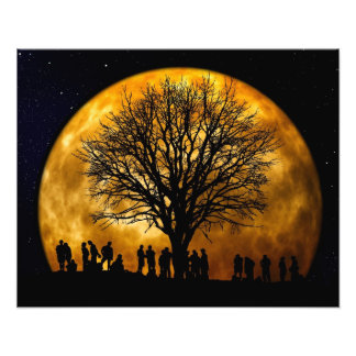 Vollmond-MitternachtsFoto-Druck Fotodruck