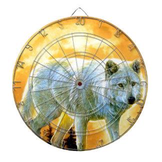 Vollmondwolf des Waldwaldmondscheins Dartscheibe