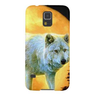 Vollmondwolf des Waldwaldmondscheins Samsung S5 Hülle