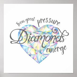 Vom großen Druck tauchen Diamanten auf Poster