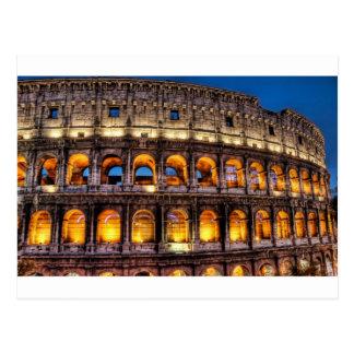 Vom römischen Colosseum mit Liebe Postkarte