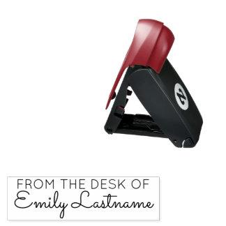 Vom Schreibtisch - des individuellen Namens Taschenstempel