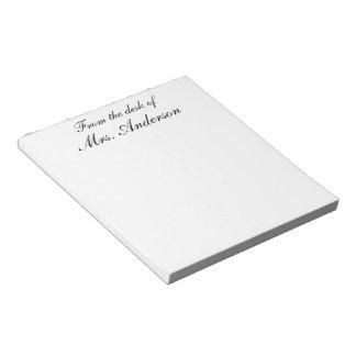 """""""Vom Schreibtisch… """"des personalisierten Schmierblock"""