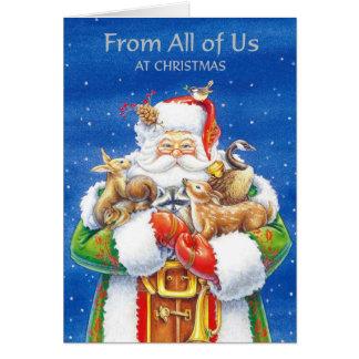 Von allen uns am Weihnachten Karte