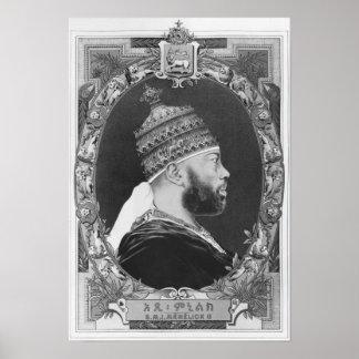 von Äthiopien Menelik II Poster