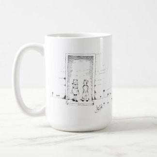 Von der Tür Kaffeetasse